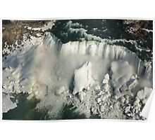 Aerial View of Niagara Falls with Snow and Ice Poster