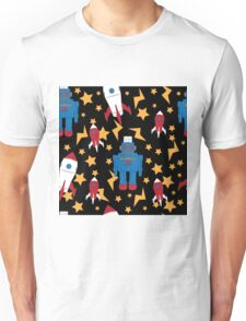 Rockets and robots Unisex T-Shirt