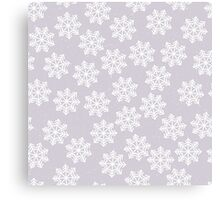 Lace snowflakes on light purple background Canvas Print