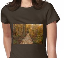 Fall Walk Womens Fitted T-Shirt