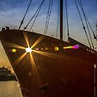 Sunbeams through the lightship by Paul Madden