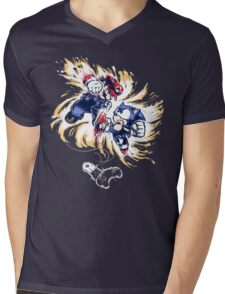 16 Bit Battle Mens V-Neck T-Shirt