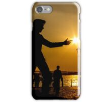Billy Fury with sunbeams at his fingertips iPhone Case/Skin