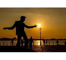 Billy Fury with sunbeams at his fingertips Photographic Print