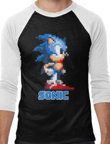 Sonic the Hedgehog 16 bit Men's Baseball ¾ T-Shirt
