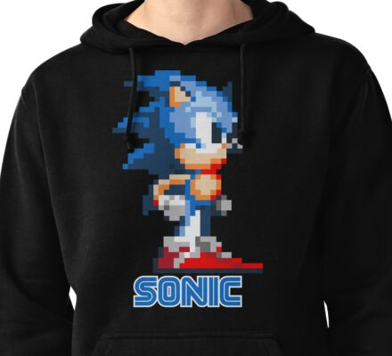 Sonic the Hedgehog 16 bit Pullover Hoodie