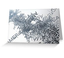 Streaming America Text Greeting Card