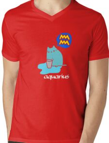 Aquarius T-shirt Mens V-Neck T-Shirt