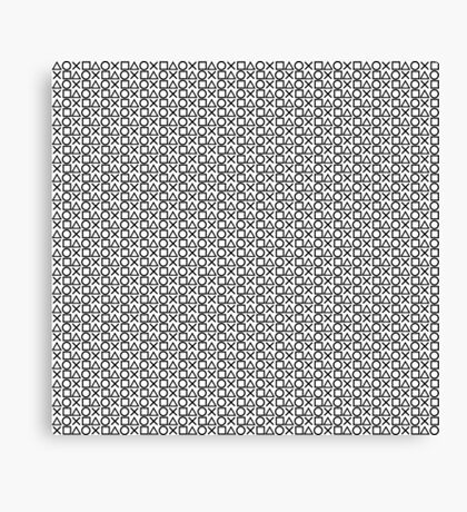 Playstation Buttons - Black on White Canvas Print