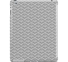 Playstation Buttons - Black on White iPad Case/Skin