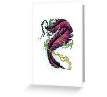 Ink Flow Feather Pen Greeting Card