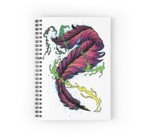 Ink Flow Feather Pen Spiral Notebook
