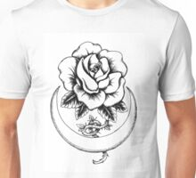 Rose and crescent moon Unisex T-Shirt