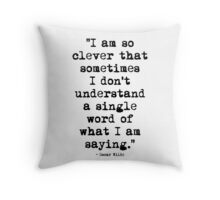 Oscar Wilde Cleverness Throw Pillow