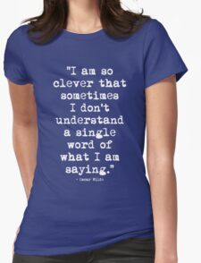Oscar Wilde Cleverness White T-Shirt