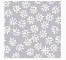 Lace snowflakes on light purple background One Piece - Short Sleeve