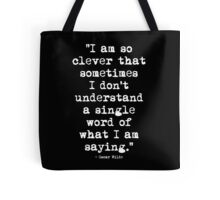 Oscar Wilde Cleverness White Tote Bag