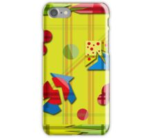 Playful day - yellow iPhone Case/Skin
