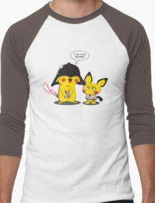 PikaVader Strikes Back! Men's Baseball ¾ T-Shirt