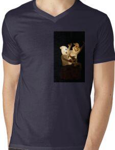 """""""Friendly Spooks"""" Mens V-Neck T-Shirt"""