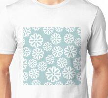 Snowflakes on light blue background Unisex T-Shirt