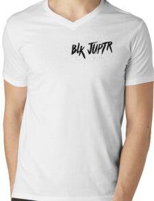 Blkjuptr Strs - Black Mens V-Neck T-Shirt