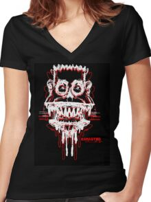 Kamastro 2 crasy coulor drawing Women's Fitted V-Neck T-Shirt