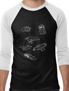 Sci fi Starry Nightsky Men's Baseball ¾ T-Shirt