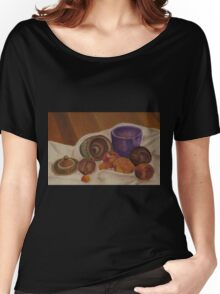 Still Life- Pottery and Fruit Women's Relaxed Fit T-Shirt