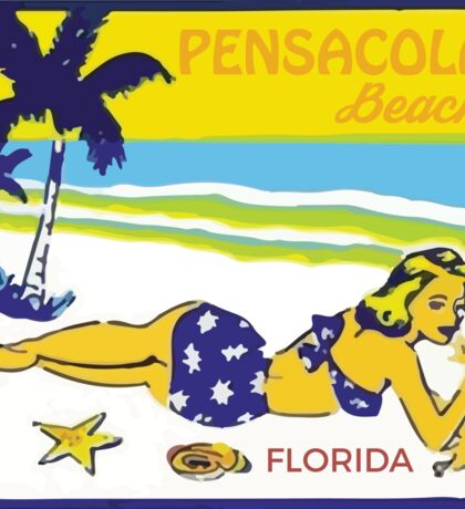 Retro Pensacola Beach Sticker