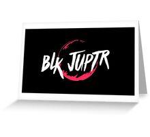 Blkjuptr Planet - Red (Small) Greeting Card