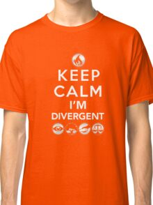 Keep Calm Faction Symbols T-Shirt: Geek Gift for Readers Classic T-Shirt