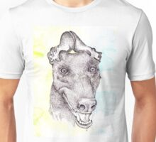 Anubis The Greyt with a party hat Unisex T-Shirt