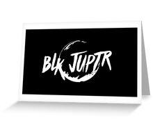 Blkjuptr Planet - White (Large) Greeting Card