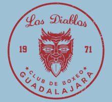 Los Diablos Club de Boxeo - distressed design Kids Tee
