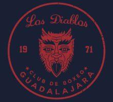 Los Diablos Club de Boxeo - distressed design Kids Clothes