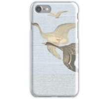 Nothing to match the flight of wild birds flying iPhone Case/Skin