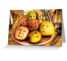 The madness of fruit Greeting Card