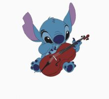 Stitch and a cello - requested  Kids Clothes