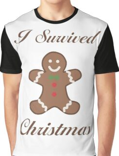 Cute Christmas Gingerbread Man Graphic T-Shirt