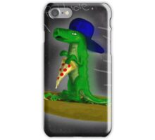 Supergator flying through space on a taco! iPhone Case/Skin