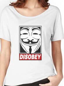V - Disobey  Women's Relaxed Fit T-Shirt