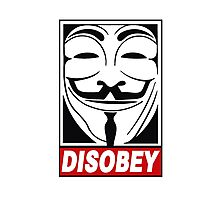 V - Disobey  Photographic Print