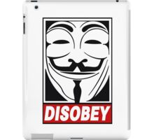 V - Disobey  iPad Case/Skin