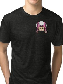 Pocket Toadette Tri-blend T-Shirt