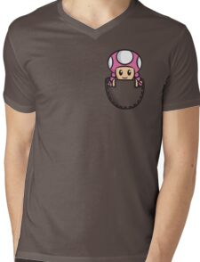 Pocket Toadette Mens V-Neck T-Shirt
