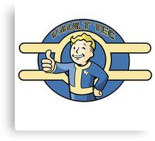 Fallout: Vault Tec Rep Canvas Print
