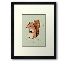 Sarah the Squirrel Framed Print
