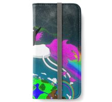 Penguin Riding a Unicorn Through the Aether. iPhone Wallet/Case/Skin