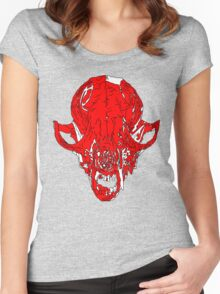 Fox Skull Women's Fitted Scoop T-Shirt